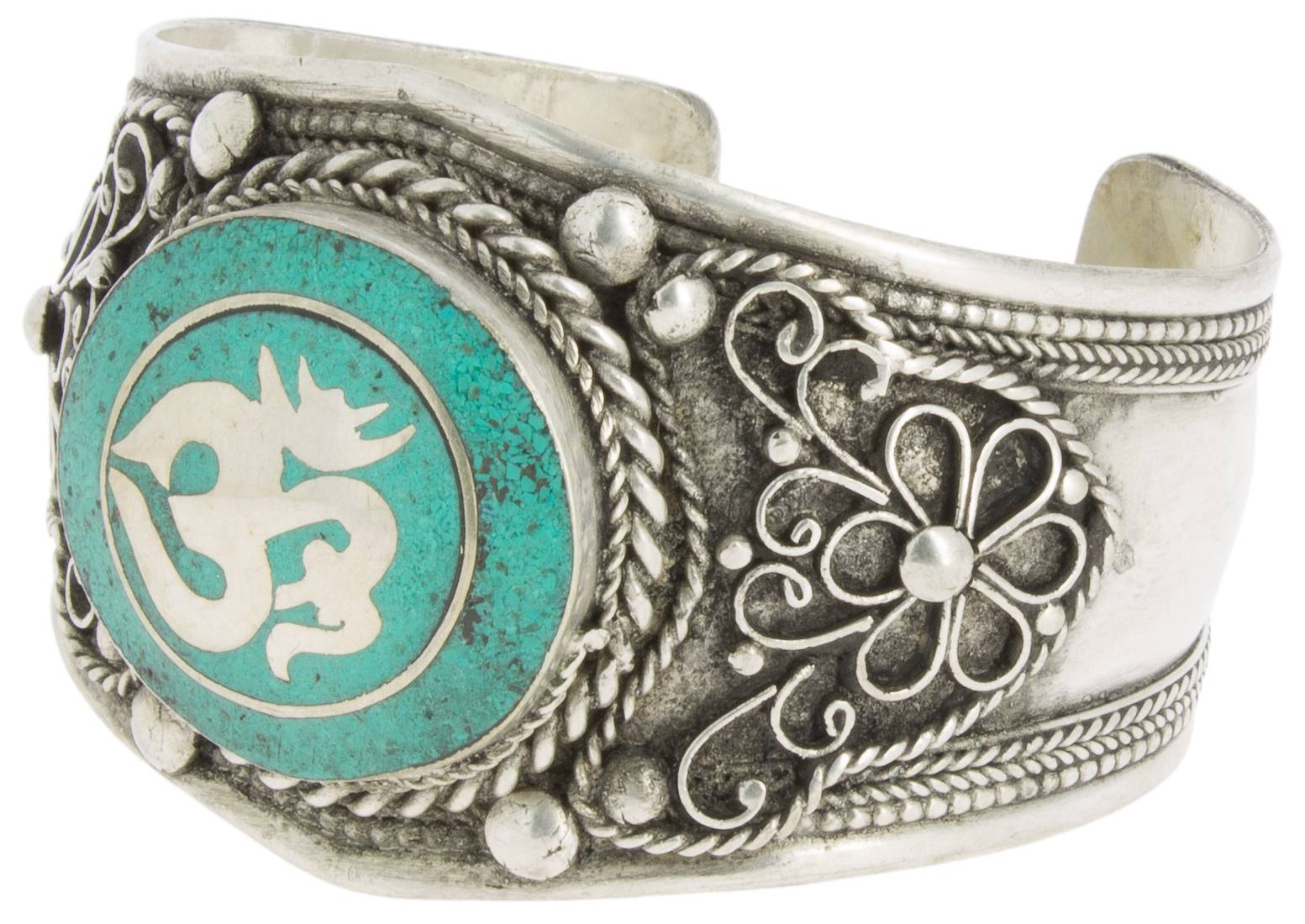 Om Bracelet with Turquoise