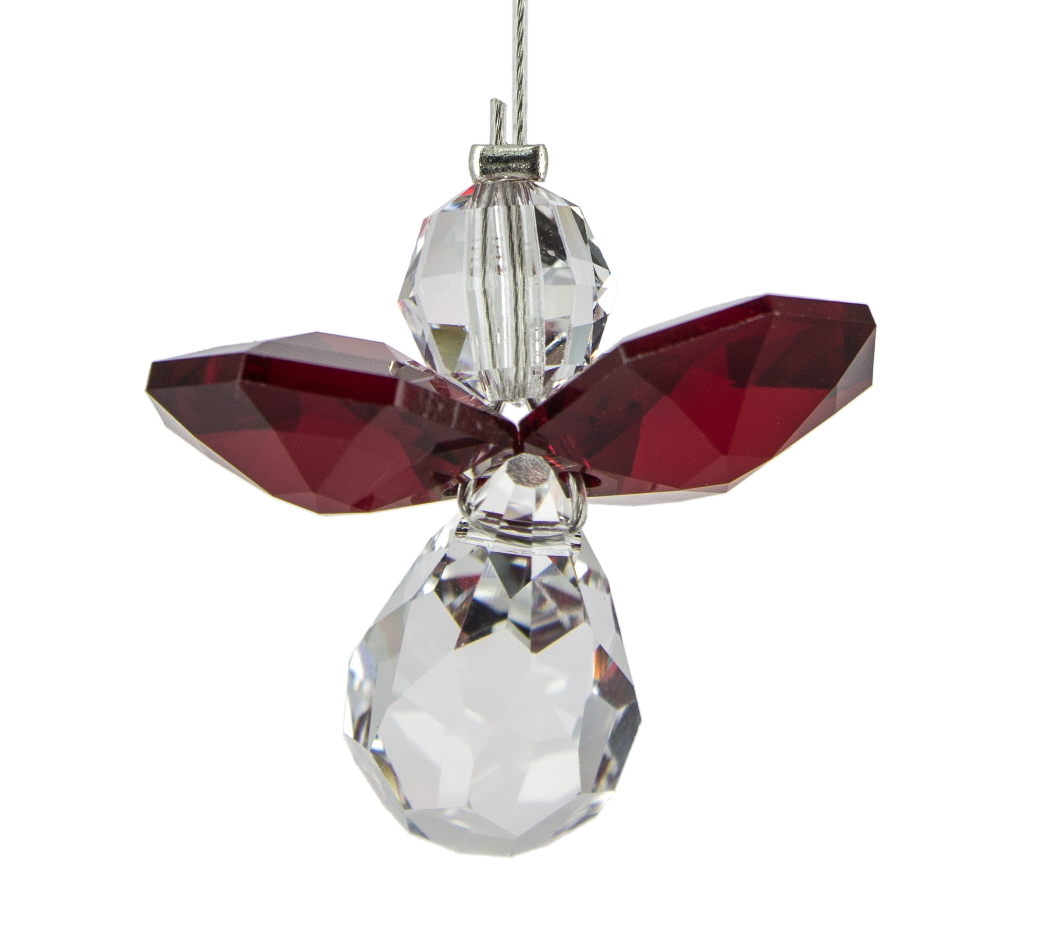 Birthstone Guardian Angel Crystal Suncatcher - Garnet, January