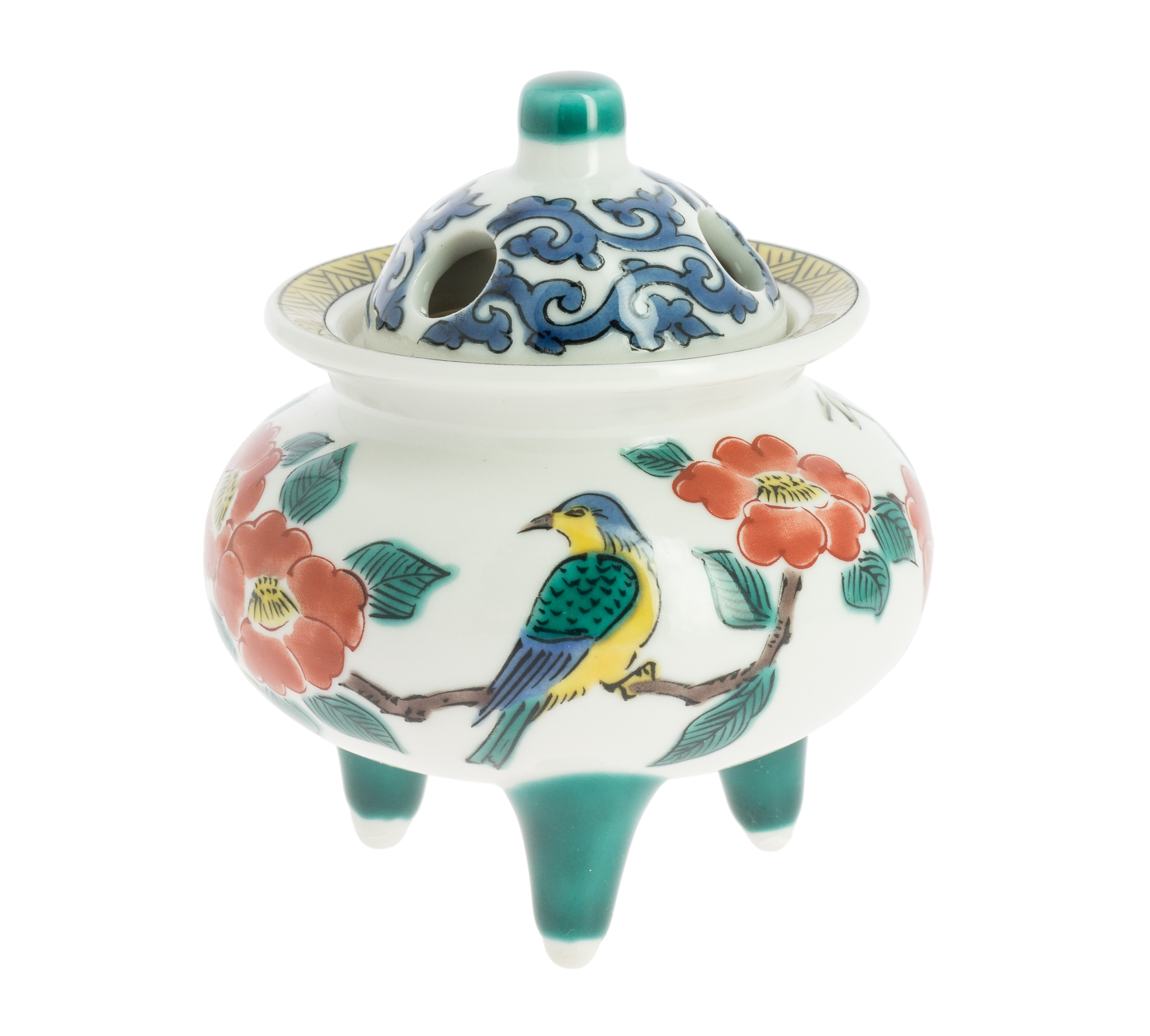 The bird and the camellia incense burner
