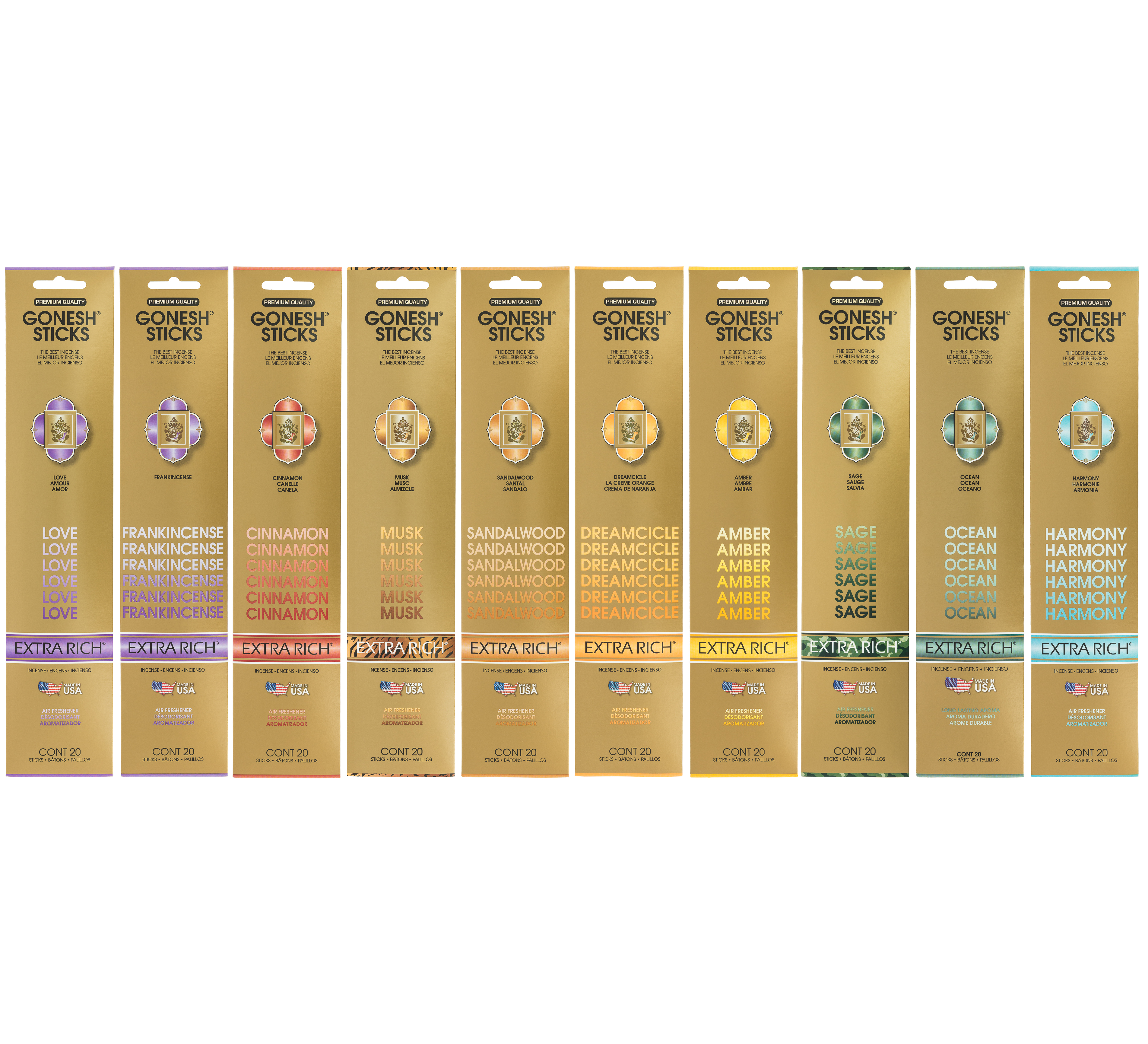 Pack Gonesh 10 Aromas Best-Sellers